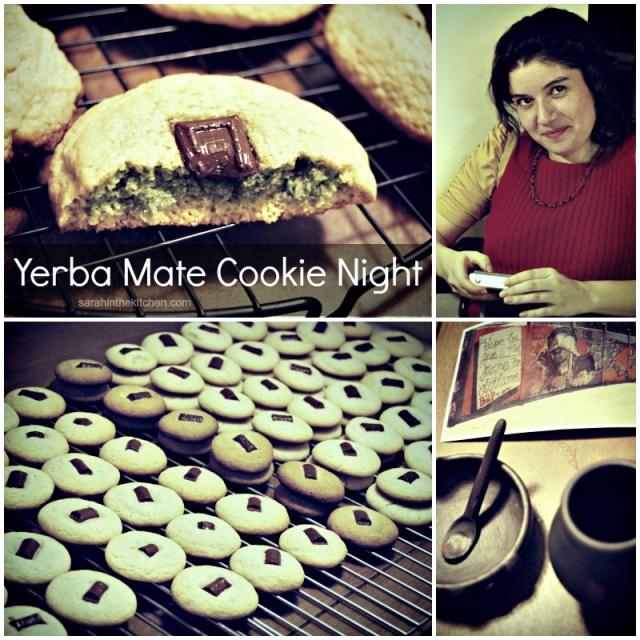 Yerba Mate Cookie Collage Words