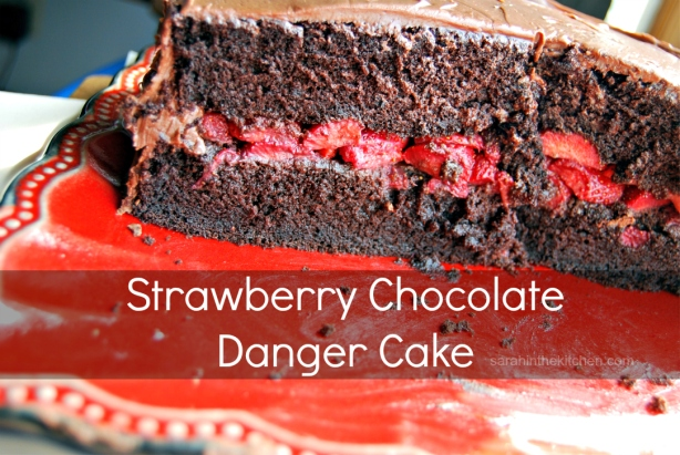 GF Strawberry Chocolate Danger Cake