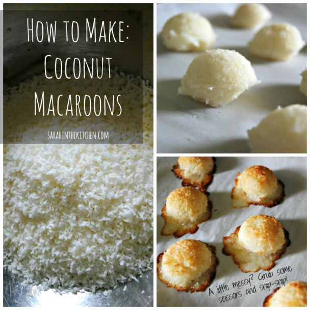 Coconut Macaroon Collage Words