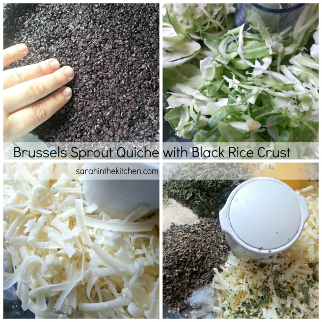 Brussel Sprout Quiche Ingredients