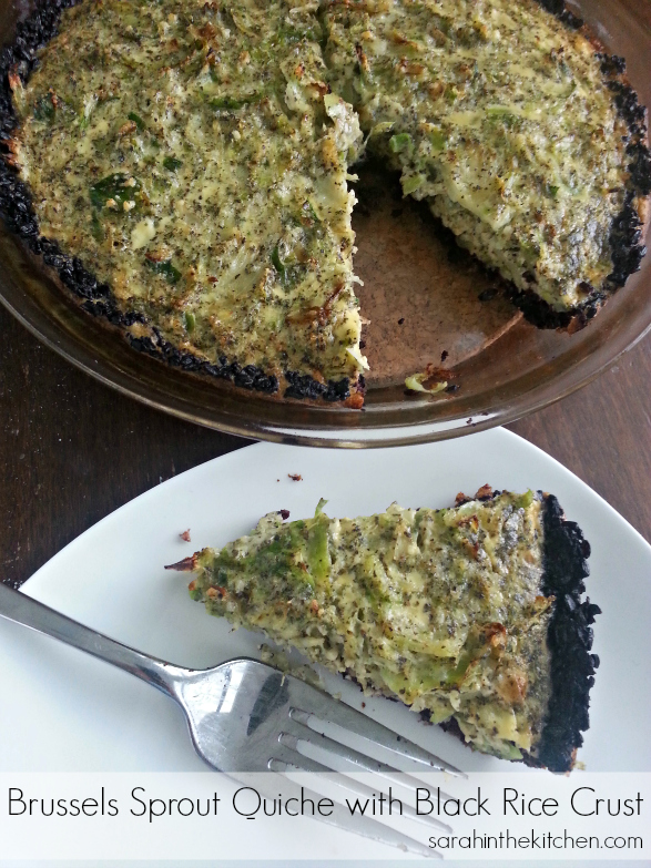 Brussels Sprout Quiche Black Rice